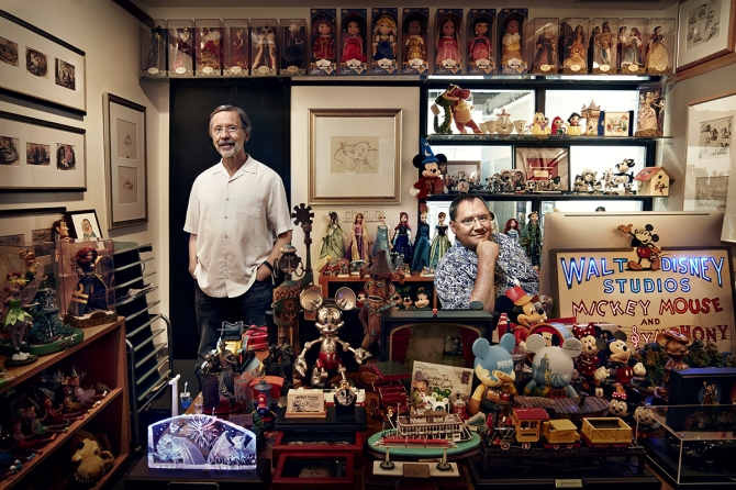 A small part of John Lasseter's toy-filled office. Photo by Art Streiber for Wired.