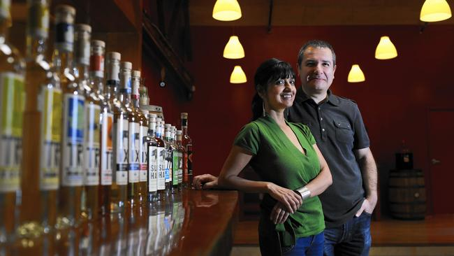 Litty Mathew and Melkon Khosrovian (Photo by Rick Loomis, LA Times)
