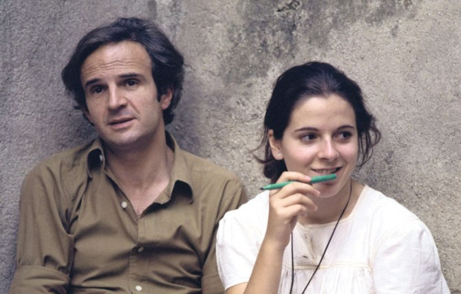 Francois and Laura on the set of Wild Child. Photo by Hélène Jeanbreau