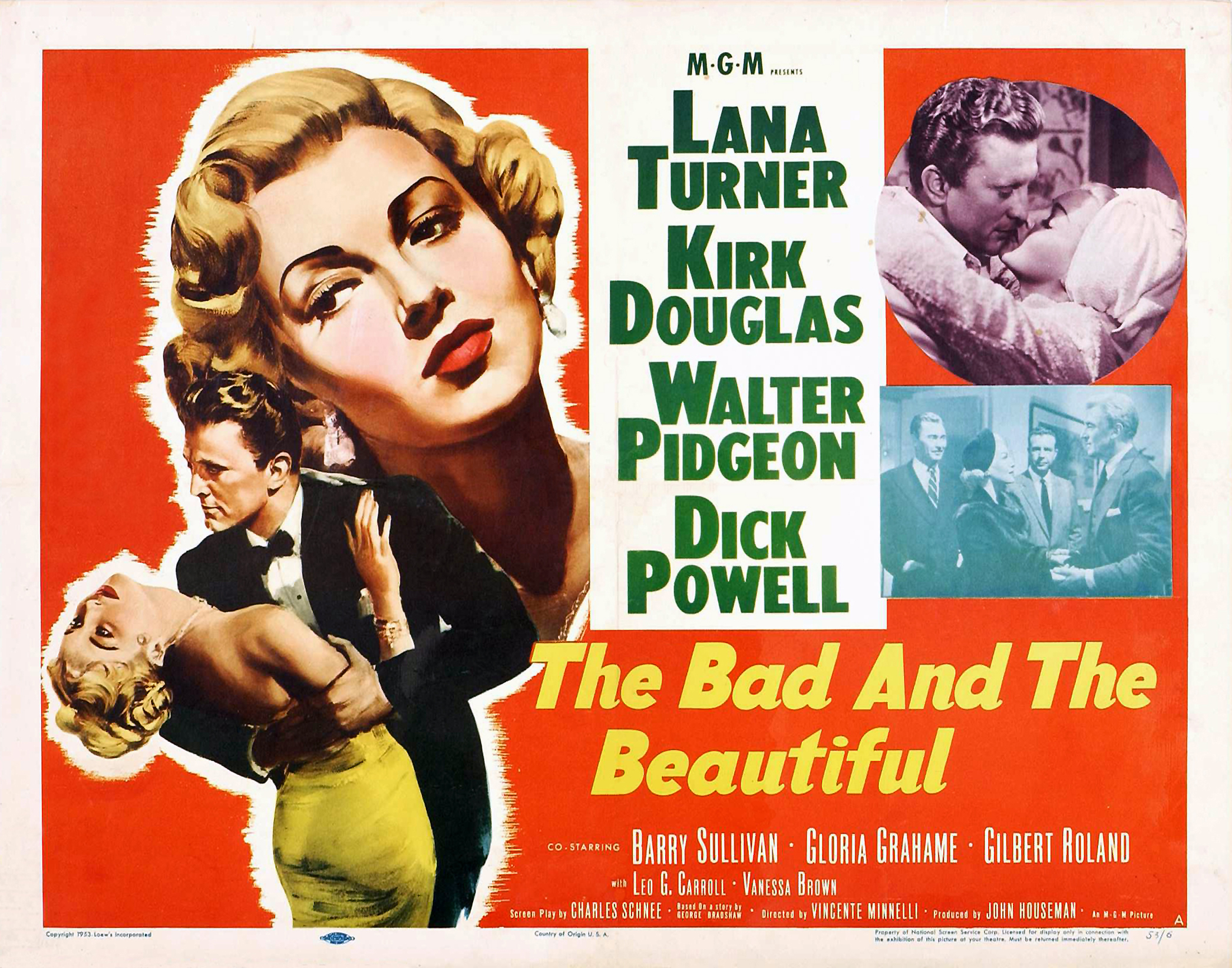Image result for THE BAD AND THE BEAUTIFUL 1952 movie