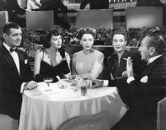 Clark Gable, Ava Gardner, Deborah Kerr, Gloria Holden and Adolphe Menjou in The Hucksters.