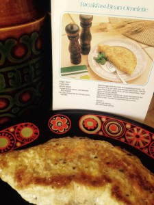 diana dors - breakfast bean omelette with cookbook