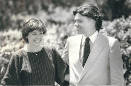 Michaela and Greg Rodeno in 1983 at Domaine Chandon.