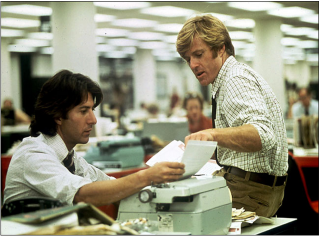 Dustin Hoffman and Robert Redford in All the President's Men (1976)