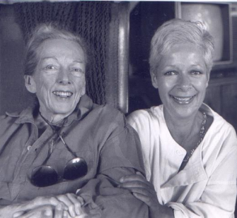 M. F. K. Fisher and Diane Boate, 1988. (Photo by George Kruse.)
