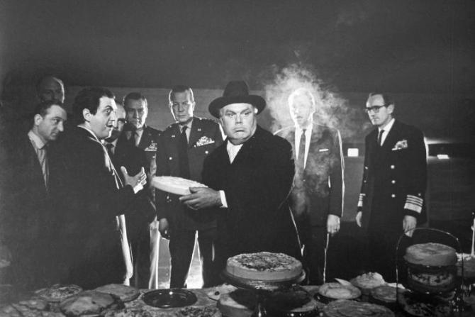 Peter Bull as Russian Ambassador Alexi de Sadesky; Photo by Weegee