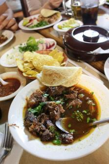 Gold says the birria — goat stew -- at El Parian is their best dis