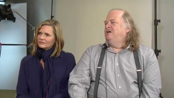 Director Laura Gabbert with Jonathan Gold.
