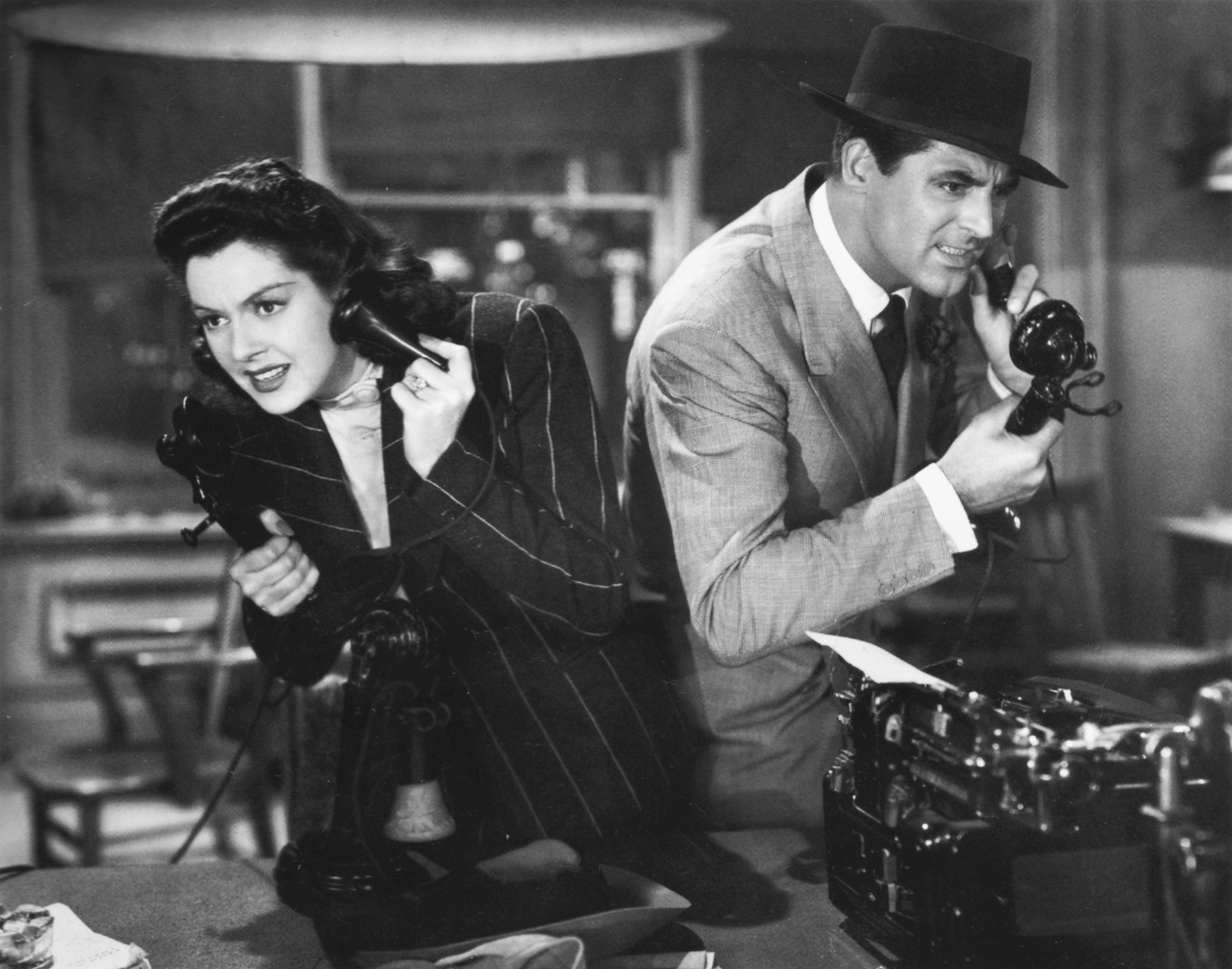 Cary Grant And Rosalind Russell In His Girl Friday 1940 Scanned By Nitrate Diva