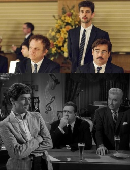 Top: The Lobster, Bottom: Escapes' Hampton Fancher (left) Credit: Courtesy of SFFS.