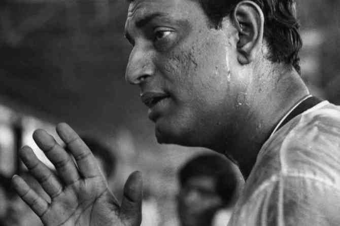 Satyajit Ray, photographed by Marc Riboud. Credit: Courtesy of Marc Riboud/Magnum Pictures/Janus Films.