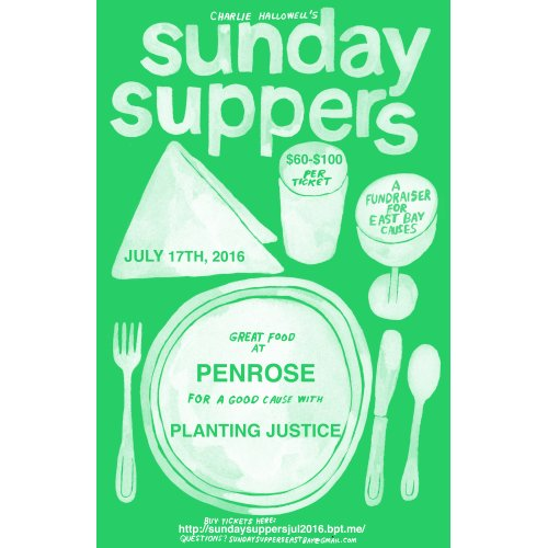 poster sunday-suppers-planting-justice-penrose-08