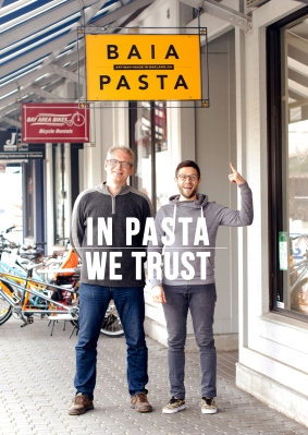 Baia Pasta was started in 2011 by Renato Sardo (left) & Dario Barbone (right). Photo: Meaghin Kennedy