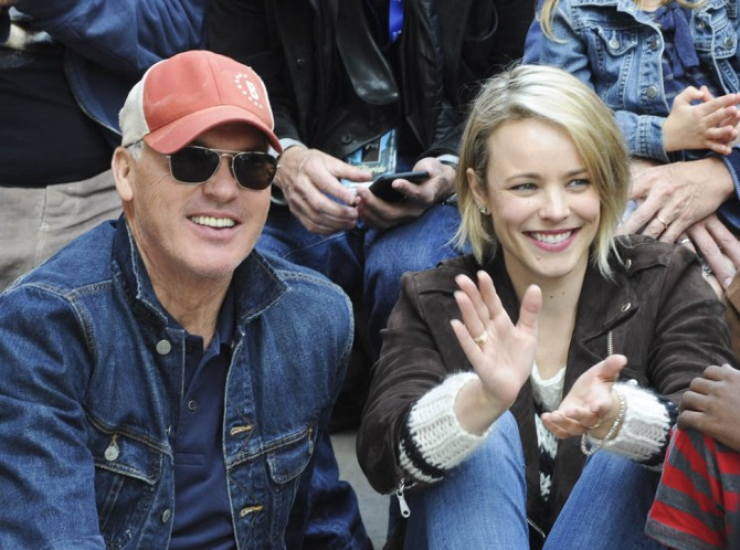 Michael Keaton and Rachel McAdams of Spotlight (photo Vivien Killilea/ Getty Images)