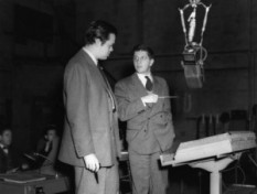 Orson Welles and Bernarard Herrmann.