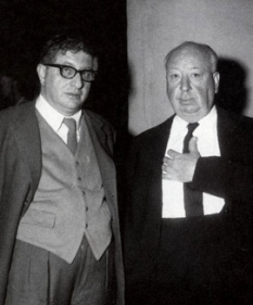 Bernard Herrmann and Alfred Hitchcock.