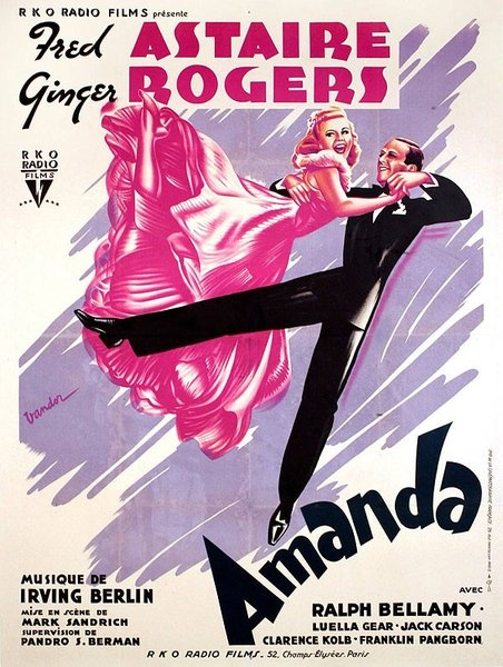 Movie poster for the movie Amanda released as Carefree, staring Fred Astaire and Ginger Rogers.