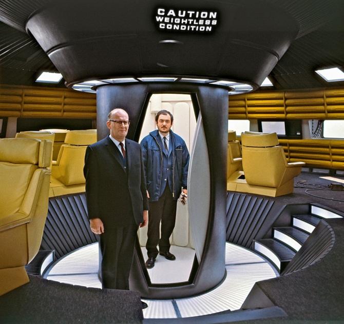 Clarke & Kubrick on set