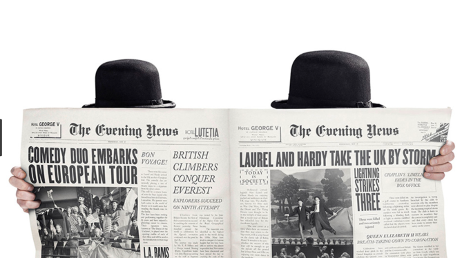 Stan & Ollie newspaper reading.png