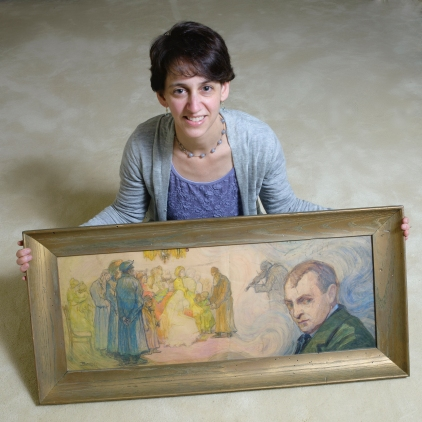 Elizabeth with painting