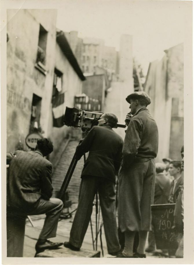 Rene Clair in the midst of an outdoor shot with his cinematographer Georges Perinal.jpg