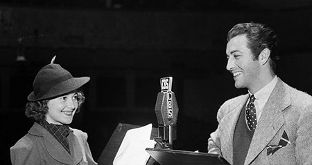 robert-taylor-and-actress-olivia-de-havilland-at-cbs-radio-in-picture
